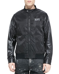 Prps Nylon Bomber Jacket Black