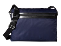 Michael Kors Kent Lightweight Nylon Large Messenger Indigo Messenger Bags Blue
