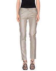 Gaudi' Denim Denim Trousers Women Dove Grey
