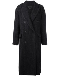 Isabel Marant Oversize Button Up Coat Black