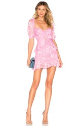 For Love And Lemons Cosmo Mini Dress Pink