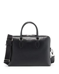 Burberry Barrow Grained Leather Briefcase Black
