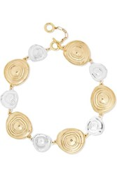 Ellery Superflat Gold And Silver Plated Choker One Size