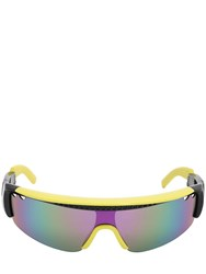 Dsquared Mask Injected Plastic Sunglasses Yellow