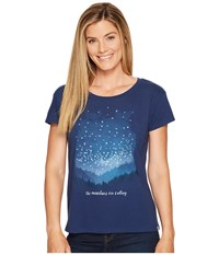Life Is Good Mountains Calling Breezy Tee Darkest Blue Women's T Shirt