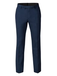 Limehaus Men's Harry Blue Panama Skinny Fit Trousers Blue