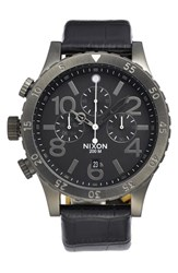 Nixon 'The 48 20' Chronograph Leather Strap Watch 48Mm