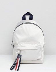 Tommy Jeans Backpack With Logo Tape Straps Grey