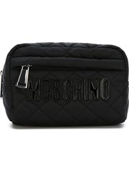 Moschino Quilted Make Up Bag Black