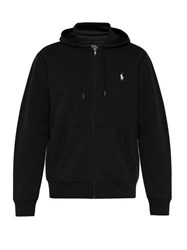 Polo Ralph Lauren Logo Embroidered Zip Through Hooded Sweatshirt Black