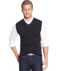 Tasso Elba Big And Tall Solid Sweater Vest Only At Macy's