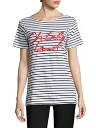 Each X Other Striped Cotton Graphic Tee Mariniere
