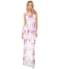 Young Fabulous And Broke Hampton Maxi Orchid Bamboo Ombre Women's Dress White