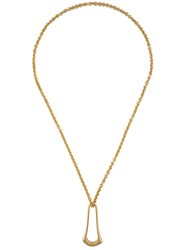 Maiyet 'Elongated Sculpt Ring' Necklace Yellow And Orange