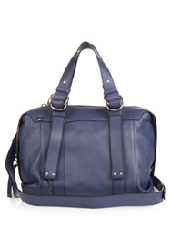 See By Chloe Grained Leather Bowling Bag Blue
