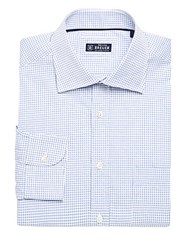 Breuer Check Dress Shirt Purple
