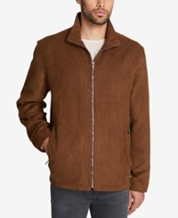 Weatherproof Men's Perforated Faux Suede Jacket Only At Macy's Moccasin