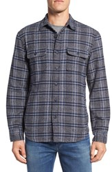 Nordstrom Men's Men's Shop Thermal Lined Shirt Jacket Navy Indigo Jaspe Flannel