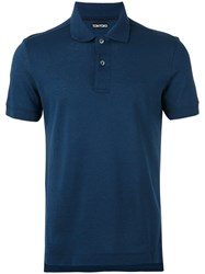 Tom Ford Polo Shirt Men Cotton 48 Blue