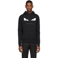 Fendi Black Bag Bugs Zip Mouth Hoodie