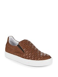 Bacco Bucci Woven Leather Sneakers Brown