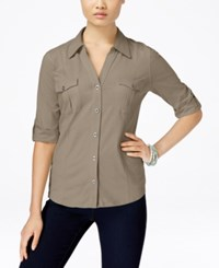 Styleandco. Style Co. Petite Jersey Utility Shirt Only At Macy's Summer Straw