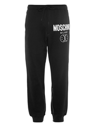 Moschino Logo Print Cotton Track Pants