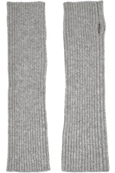 N.Peal Cashmere Ribbed Cashmere Fingerless Gloves