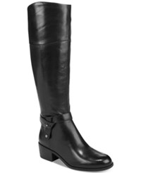 Alfani Berniee Step 'N Flex Wide Calf Riding Boots Created For Macy's Women's Shoes Black