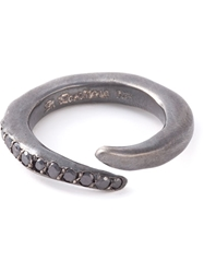 Rosa Maria Curved Diamond Ring Grey
