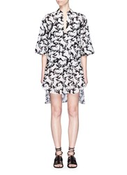 Stella Mccartney 'Iconic Prints' Horse Cover Up Shirt Multi Colour