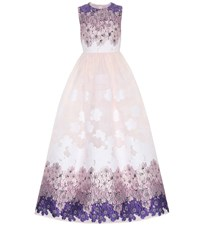 Huishan Zhang Beau Floral Jacquard Gown Multicoloured