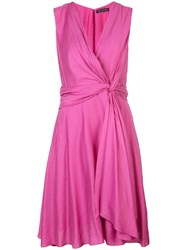 Josie Natori Knot Tie Dress Pink