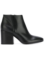 Strategia Chunky Heel Ankle Boots Women Leather 38.5 Black