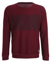 Tom Tailor Denim Sweatshirt Deep Burgundy Red Dark Red