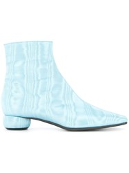 Ellery Rippled Effect Ankle Boots Blue