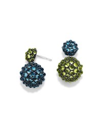 David Yurman Osetra Double Drop Topaz And Peridot Earrings Peridot Blu Topaz
