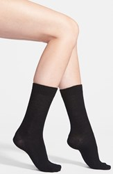 Women's Nordstrom 'Luxury' Crew Socks Black