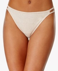 Vanity Fair Illumination Heathered Cotton Bikini 18315 Honey Heather