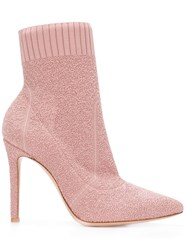 Gianvito Rossi Fiona Booties Pink And Purple