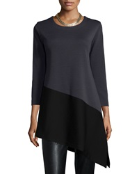 Caroline Rose Colorblock Angled Tunic