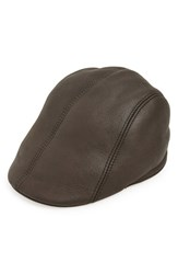 Men's Nathaniel Cole Shearling Driving Cap Brown