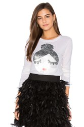Alice Olivia Stace Face Sweater White
