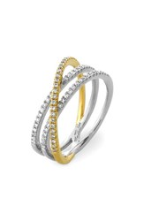 Bony Levy Women's Crossover Three Row Diamond Ring Nordstrom Exclusive White Gold Yellow Gold