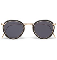 Eyevan Round Frame Acetate And Metal Sunglasses Black