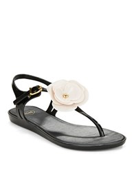 Mel Special Ii Jelly Thong Sandals Black White