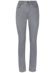 Jaeger Mid Rise Skinny Jeans Light Grey