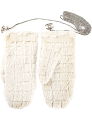 Chanel Vintage Panelled Gloves White