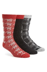Uggr Men's Ugg Assorted 3 Pack Crew Socks Seal Multi