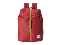 Herschel Post Winetasting Crosshatch Tan Synthetic Leather Backpack Bags Red